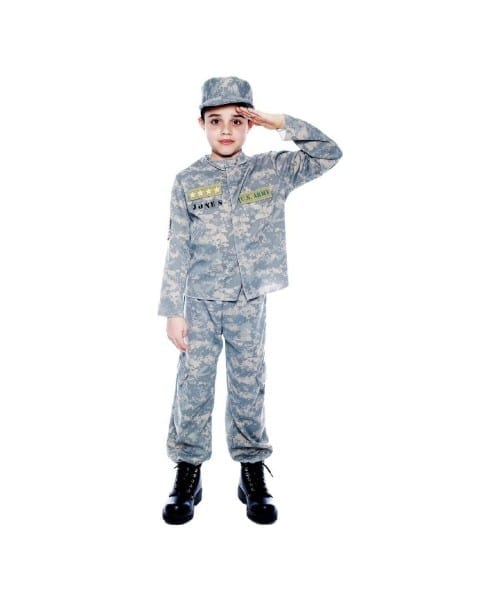 Army Us Officer Kids Costume