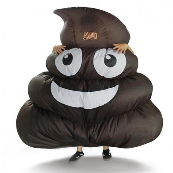 Wholesale Mens Kids Inflatable Giant Poop Emoji T