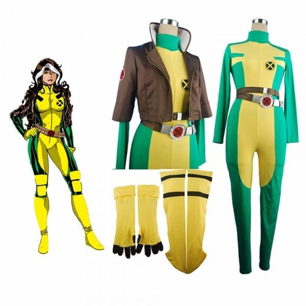 X Men Rogue Superhero Marie D'ancanto X Men Jumpsuit Catsuit