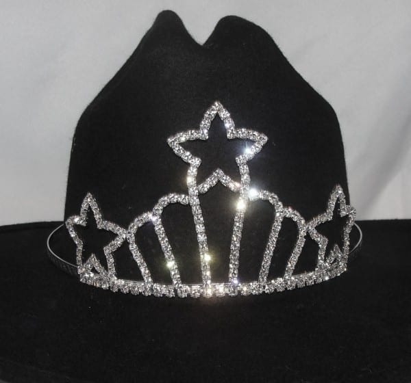 Shooting Star  Rhinestone Cowboy Hat Tiara Usa Made