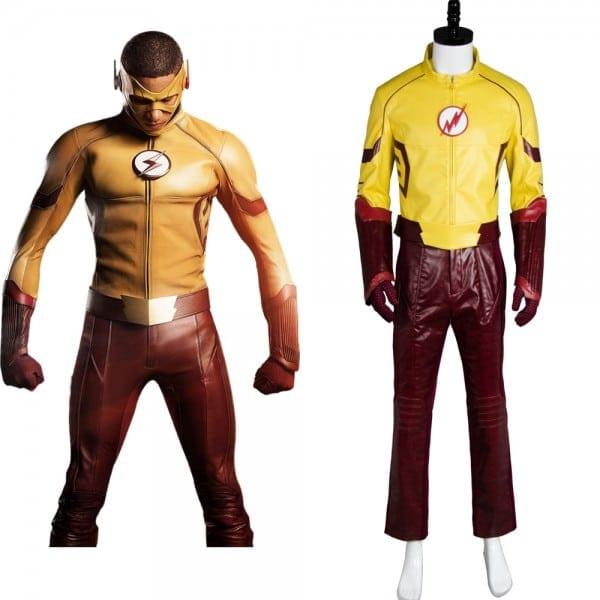 Young Justice Costume Cosplay Season 2 Kid Flash Full Set Uniform