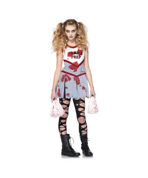 Zombie Cheerleader Kids Costume