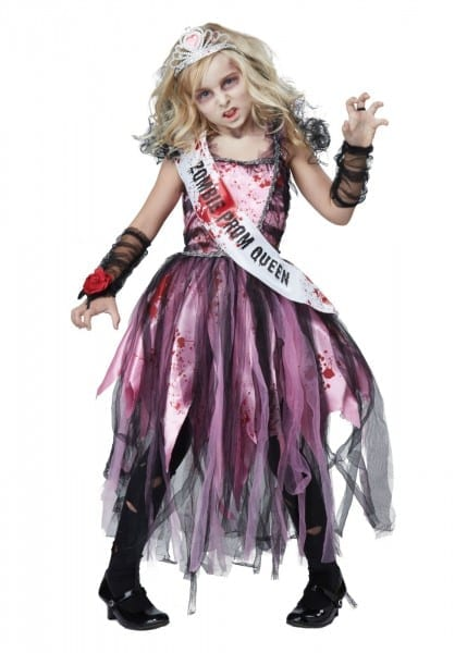 Prom Girl Zombie Scary Girls Costume