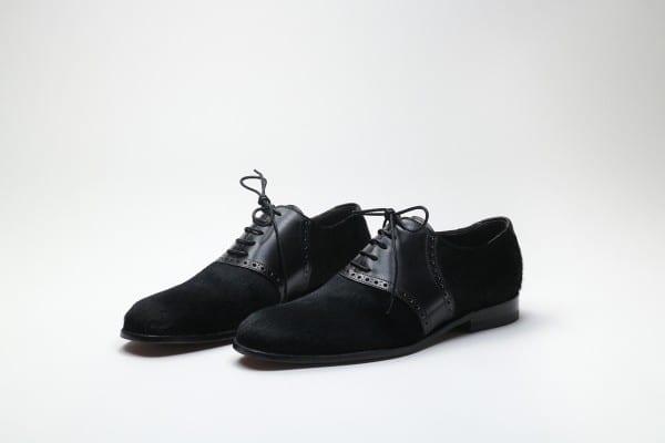 All Black Saddle Shoes