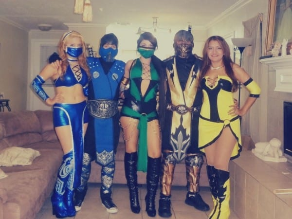 Our 2013 Halloween Mortal Kombat Costumes From Left To Right