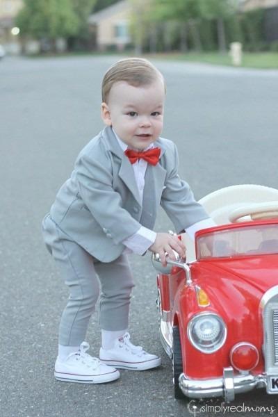 Funny Toddler Pee Wee Heman Halloween Costume