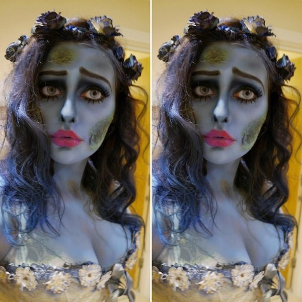 Corpse Bride Costume   Halloween Makeup  Emily From Tim Burton
