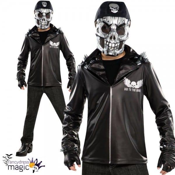 Amscan Teens Halloween Bad To The Bone Ghost Rider Boys Fancy