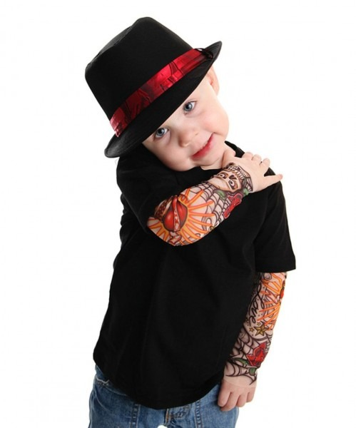 Take A Look At This Black Rockabilly Tattoo Sleeve Layered Tee