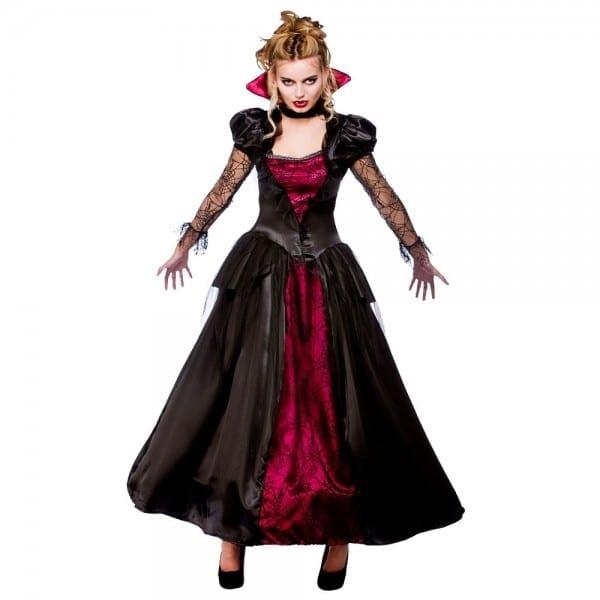 Ladies Wicked Vampire Queen Costume Halloween Womens Fancy Dress