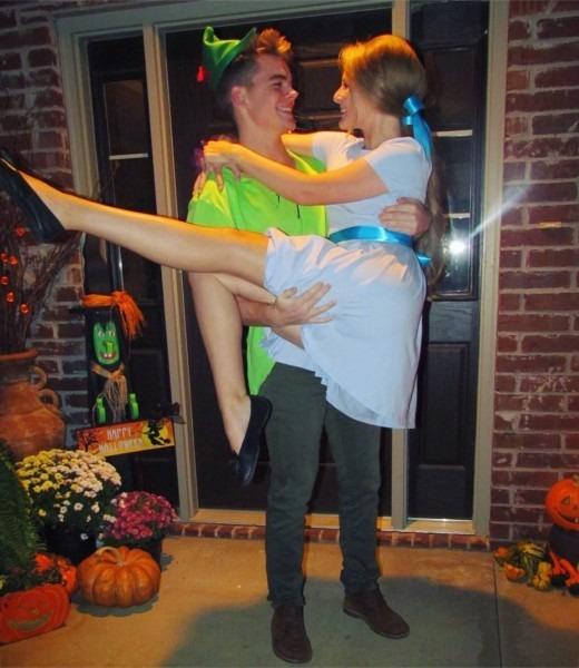 Peter Pan & Wendy Darling Halloween Couple Costume Ig