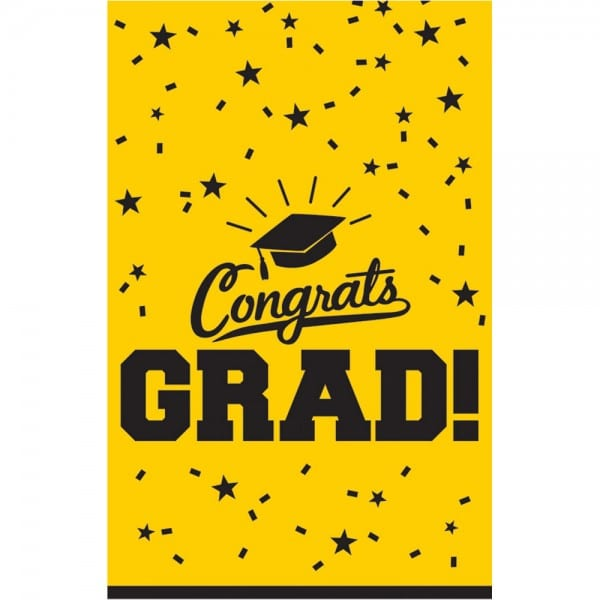 Costume Supercenter  Graduation Table Cover Yellow Each