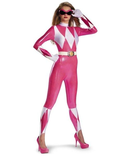 Power Ranger Sassy Adult Costume Pink