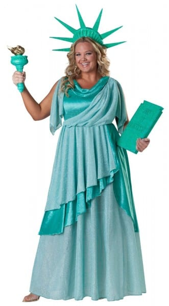 Lady Liberty Elite Collection Adult Plus Costume From Buycostumes