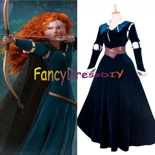 2015 Custom Made Brave Princess Merida Dress Costume Adult Women