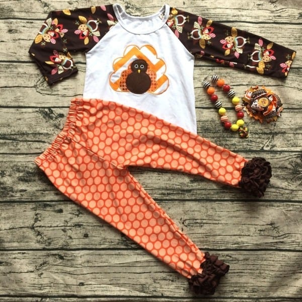 2016 Baby Girls Outfits Thanksgiving Baby Kids Boutique Baby Girl