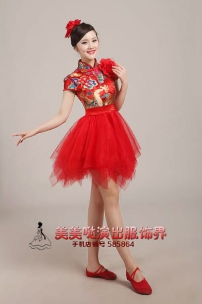 2017 Real Halloween Costume For Kids China Style Dance Costumes