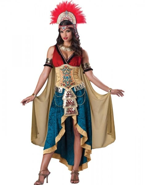 Mayan Queen Aztec Goddess Mexican Warrior Native Women Halloween
