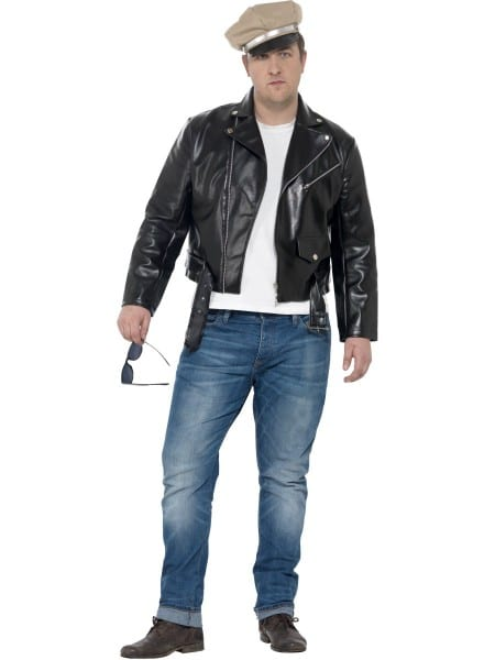 50s Rebel Mens Fancy Dress 1950s Biker Gang Adults Costume Plus