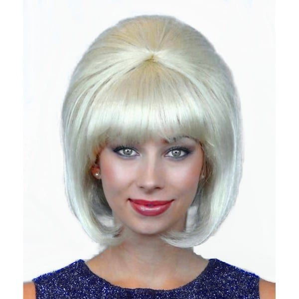 1960's Hippie And Retro  60's Beehive Hairspray Blonde Wig