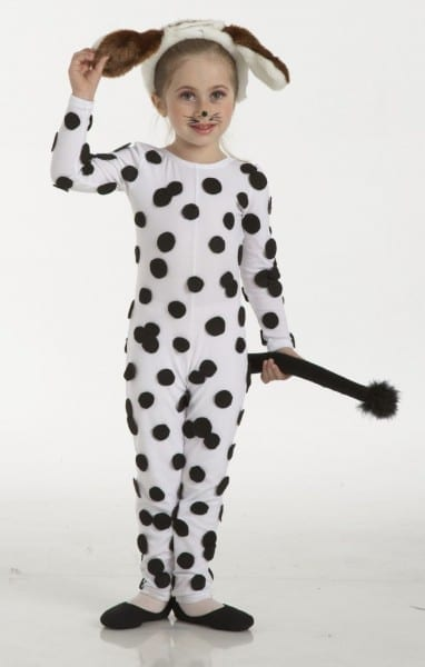 Dalmation  217 217xx 0217 In White Add Black Dots, Tail And Dog