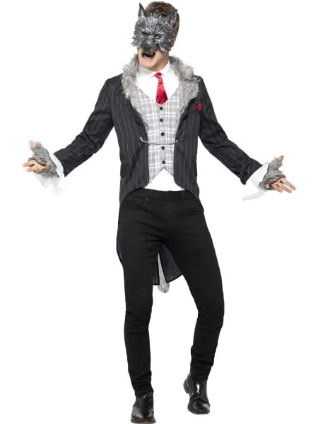 Big Bad Wolf Costume Mens Halloween Fancy Dress Outfit Deluxe