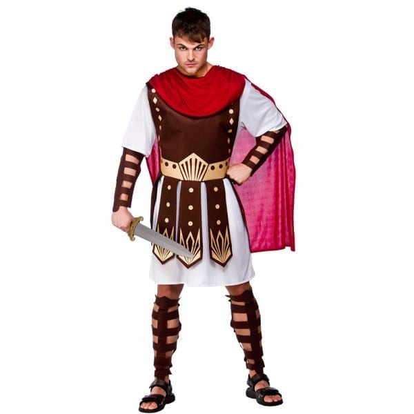 Roman Toga Outfit Centurion Mens Gladiator Fancy Dress Costume S