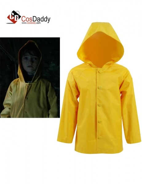 2017 New Stephen King's It Georgie Denbrough Yellow Raincoat