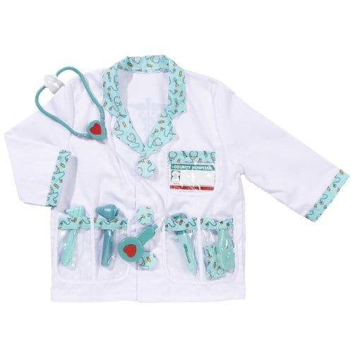 Melissa & Doug Doctor Costume Deluxe Role Play Set With Medical