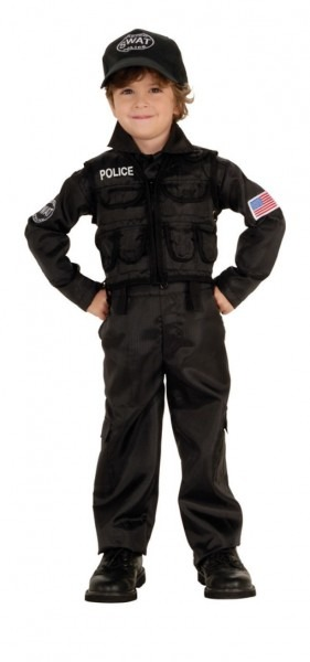 Swat Police Kids Costume Police Costumes
