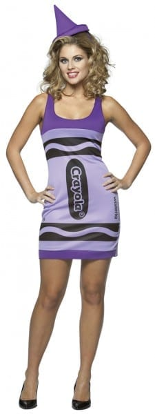 Crayola Adult And Teen Wisteria Crayon Costume