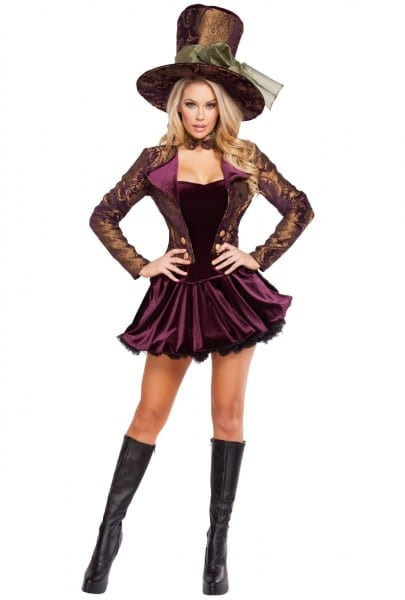Roma Womens Deluxe Adult Mad Hatter Costume