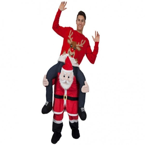 Amazon Com  Halloween Carry Ride On Me Shoulder Santa Claus Mascot