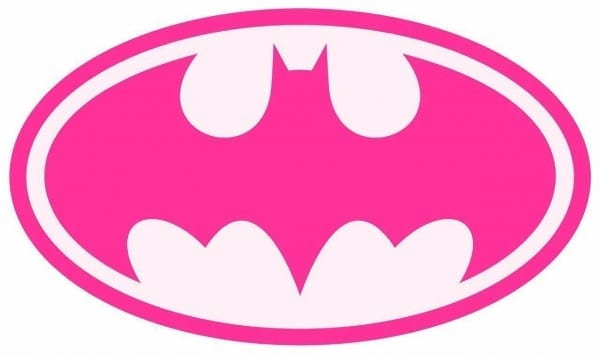 Batgirl Bat Girl Pink Iron On T Shirt   Pillowcase Fabric Transfer