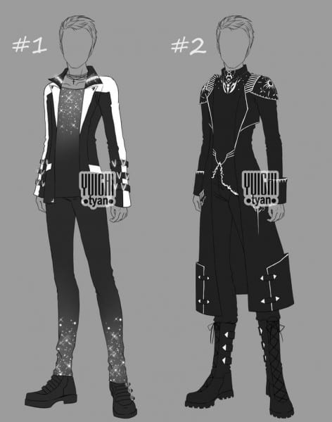 Closed] Auction Bw Outfit Men By Yuichi