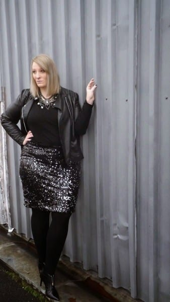 5 Plus Size Christmas Outfits With Leather Jacket That You Will