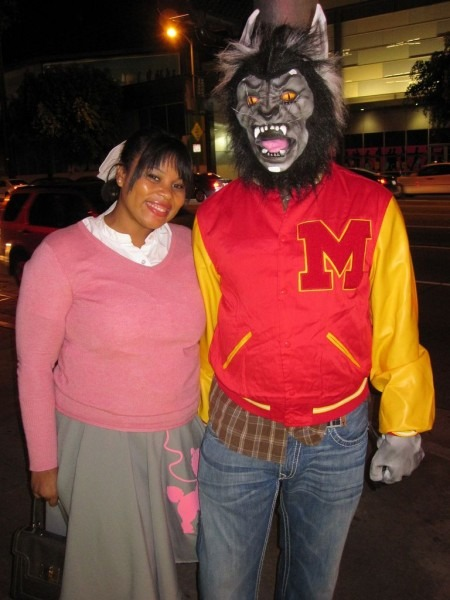 Angie As Ola Ray And Greg As Michael Jackson In  Thriller  In 2018