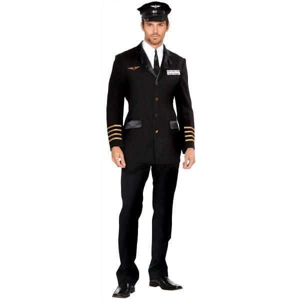 Amazon Com  Mile High Pilot Hugh Jorgan Adult Costume