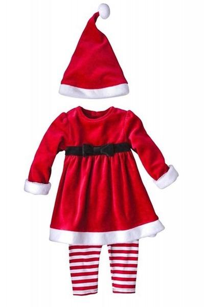 Amazon Com  Toddler Girls 3 Piece Mrs Santa Claus Set Christmas