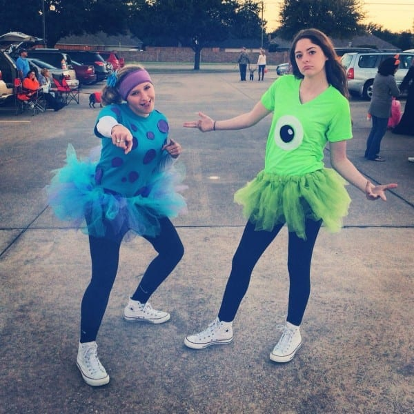 Sulley & Mikethis Would Be Cute For A Running Group Costume