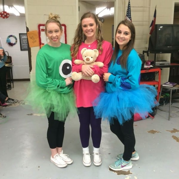 Boo, Sully, And Mike Wazowski For Cartoon Spirit Day!