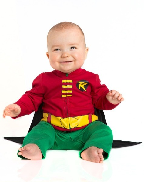 Batman Robin Caped Baby Coverall Exclusively At Spirit Halloween