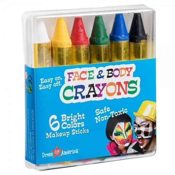 Amazon Com  Dress Up America Face Paint 6 Color Crayon