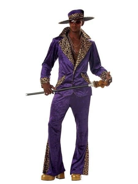 Amazon Com  Pimp Purple Crushed Velvet Adult Costume  Clothing