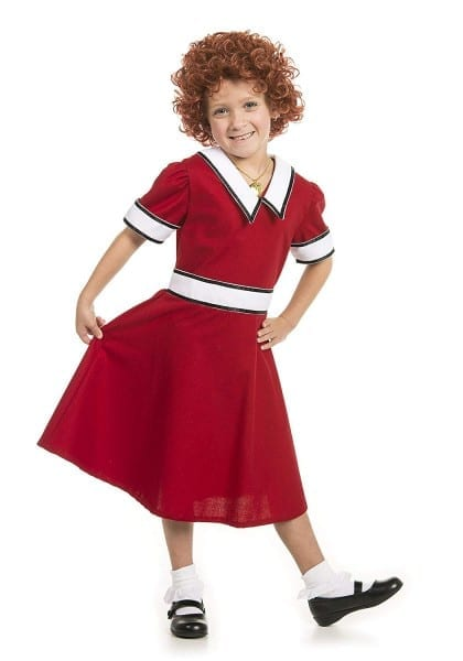 Amazon Com  Little Orphan Annie Costume With Wig Youth   Child