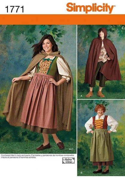 Amazon Com  Simplicity 1771 Misses' And Men's Costume A (8