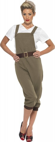 Women's Ww2 Land Girl Costume Small War Fancy Dress