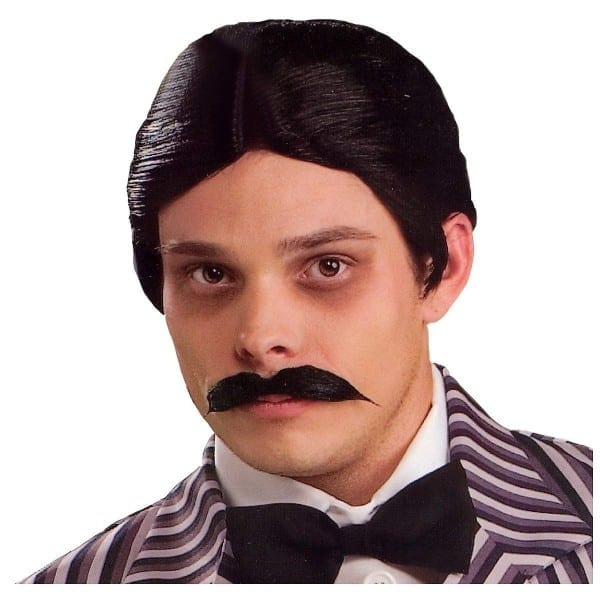 Amazon Com  The Addams Family Gomez Wig And Moustache Kit  Clothing