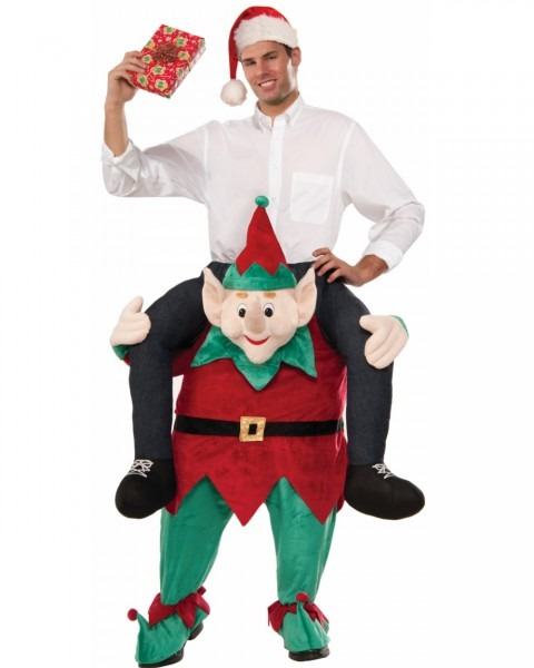 Mens Myself On An Elf Ride On Costume