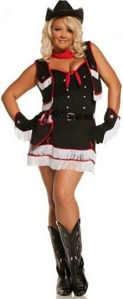 Adult Dirty Desperado Plus Size Cowgirl Costume